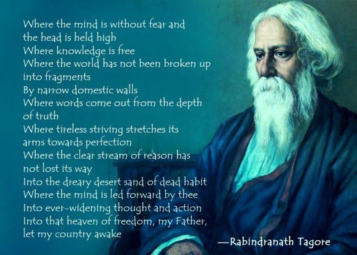 Gurudev Rabindranath Tagore's poem 'Gitanjali'.