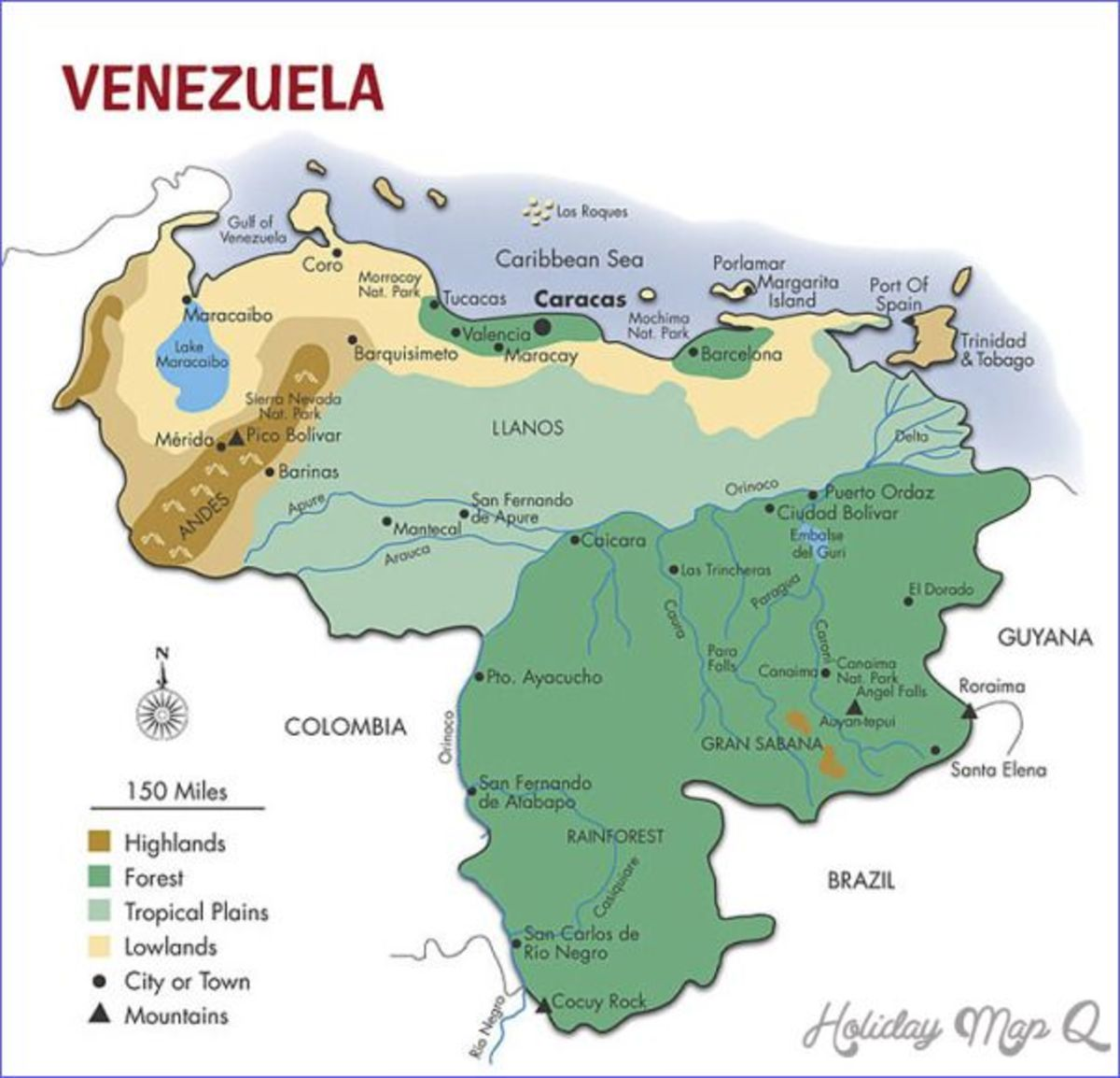 Map of Venezula