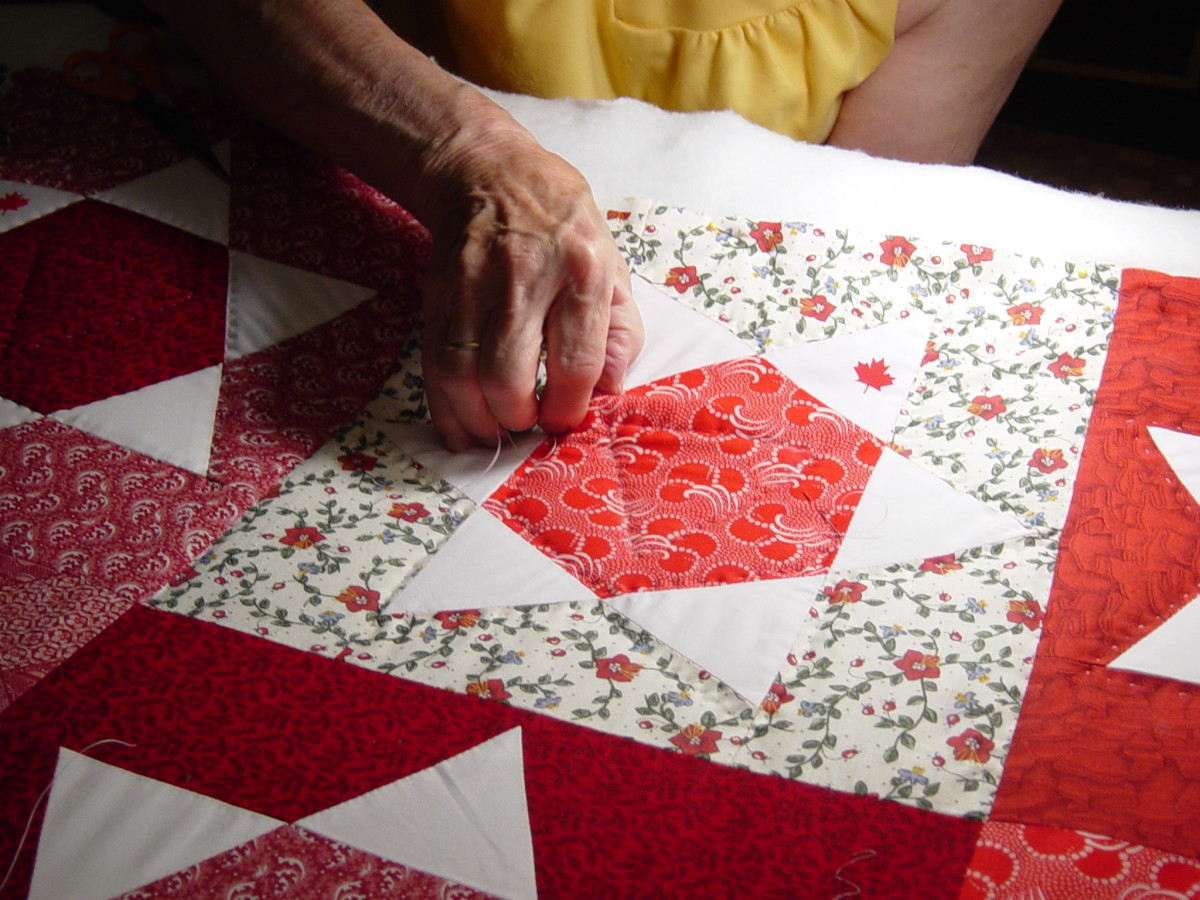 The look of hand quilting is hard to replicate on an electronic sewing machine.