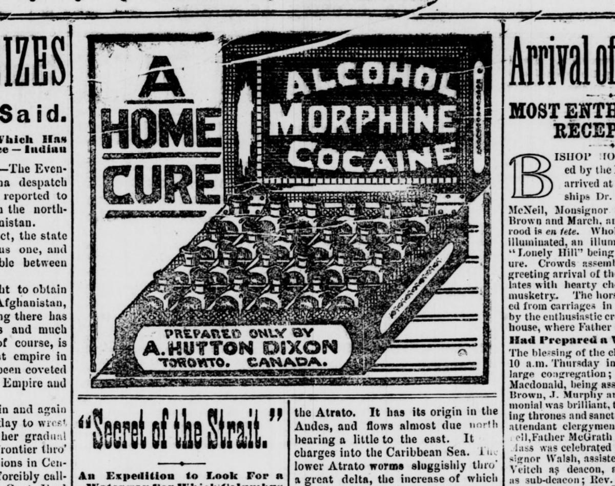 """""""Alcohol, morphine, cocaine"""""""