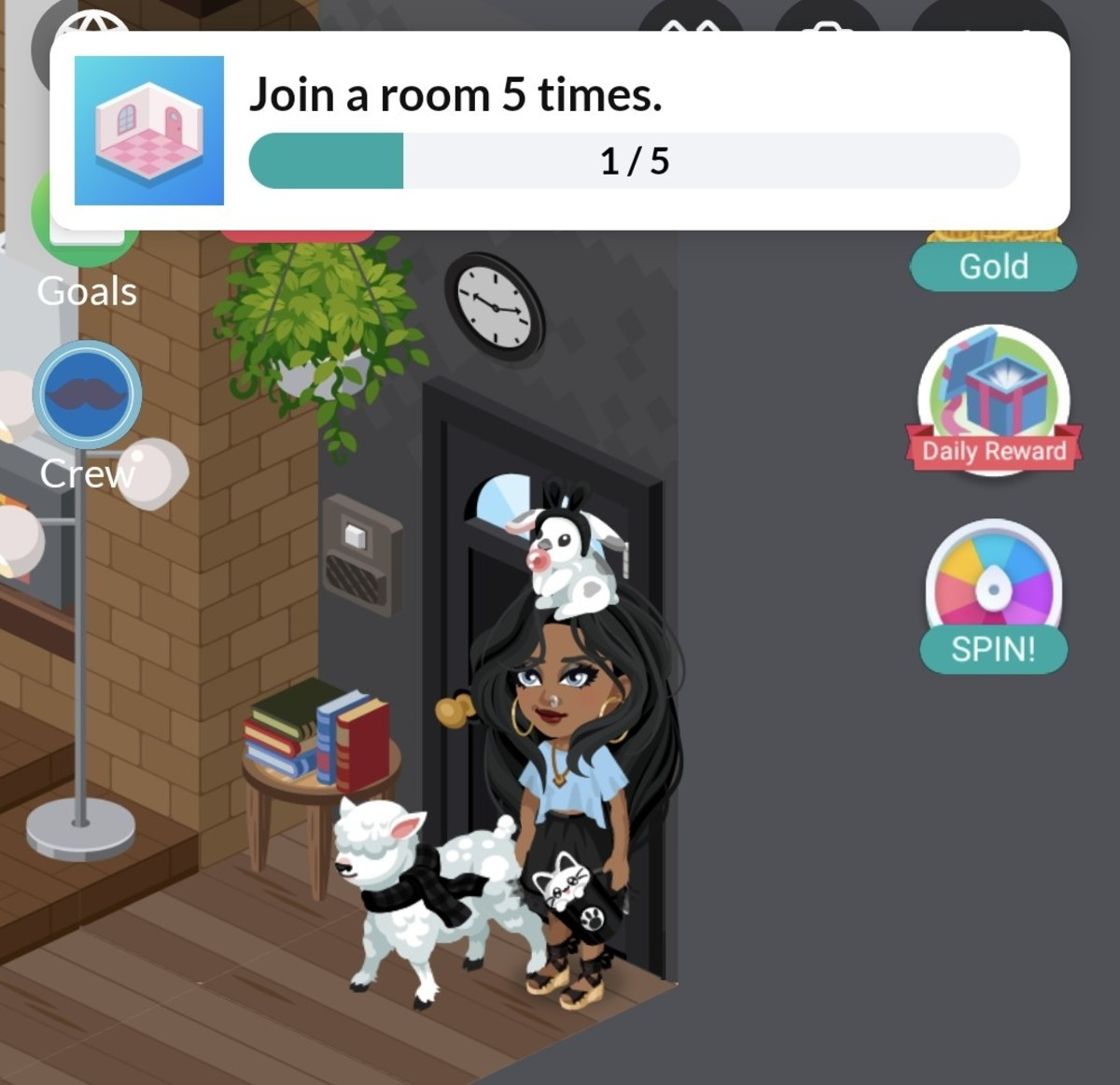 Literally entering a room is one of the daily goals- so easy!