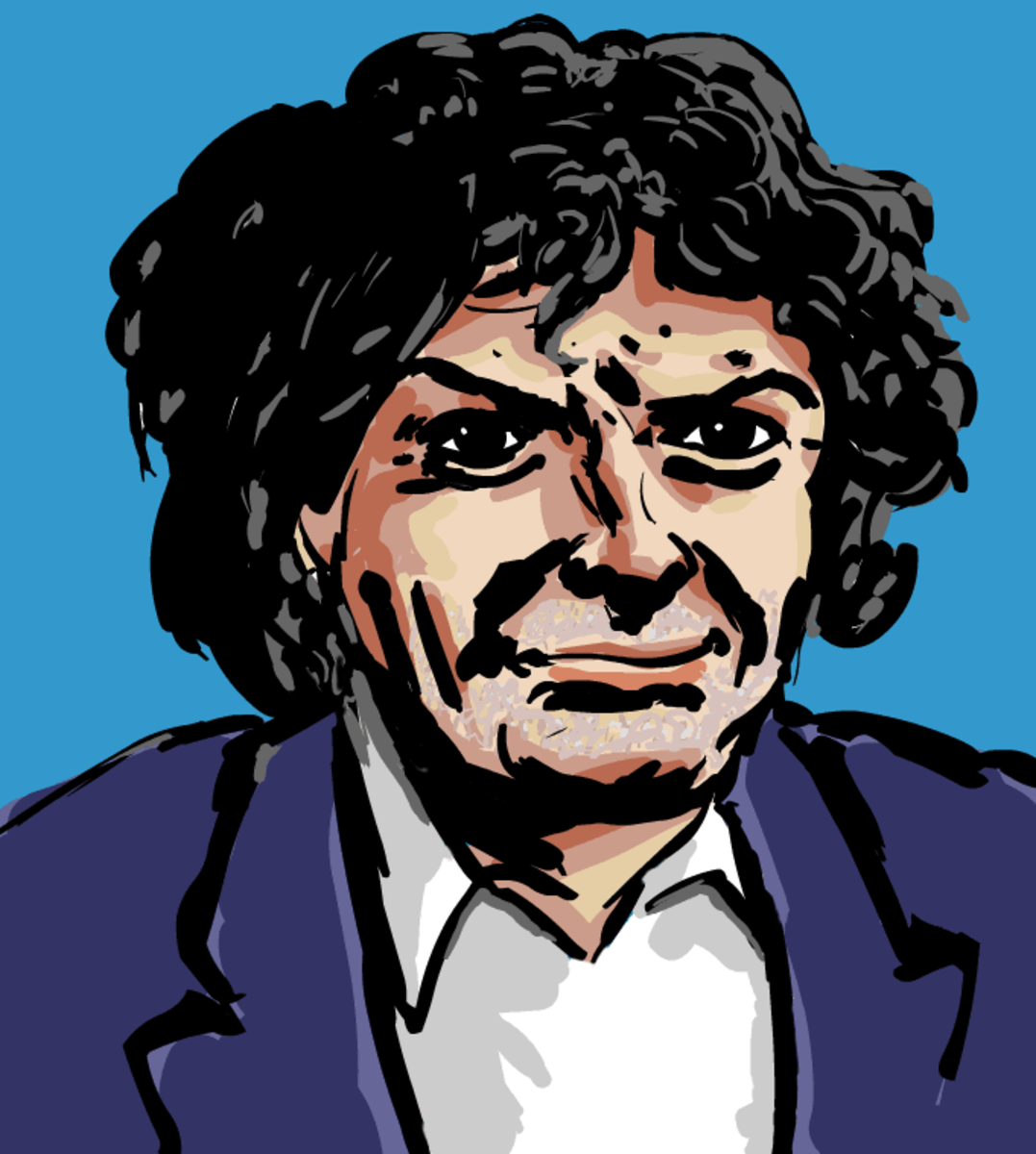 An illustration of Gregory Corso