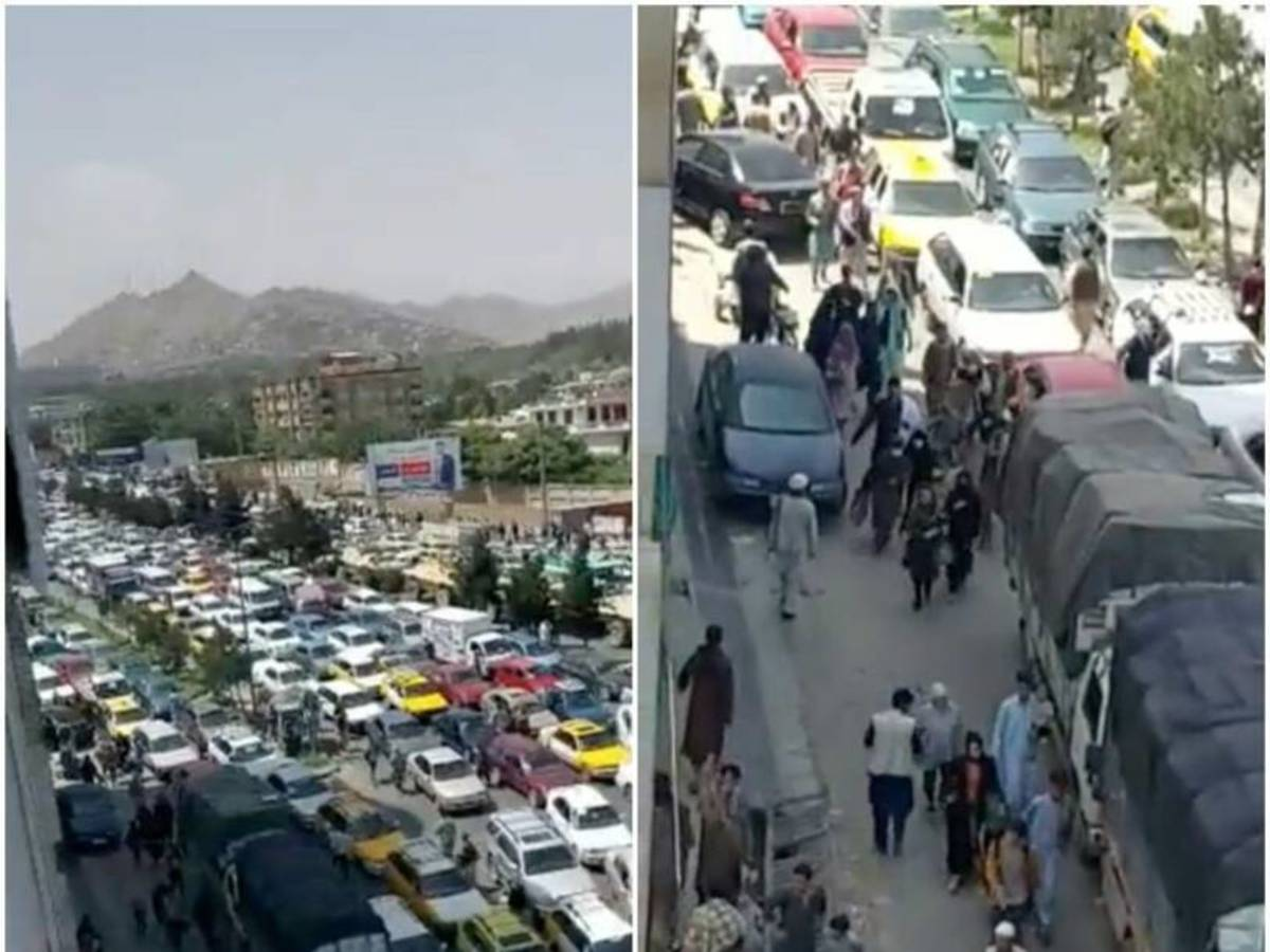 Unrest as thousands try to flee the country.