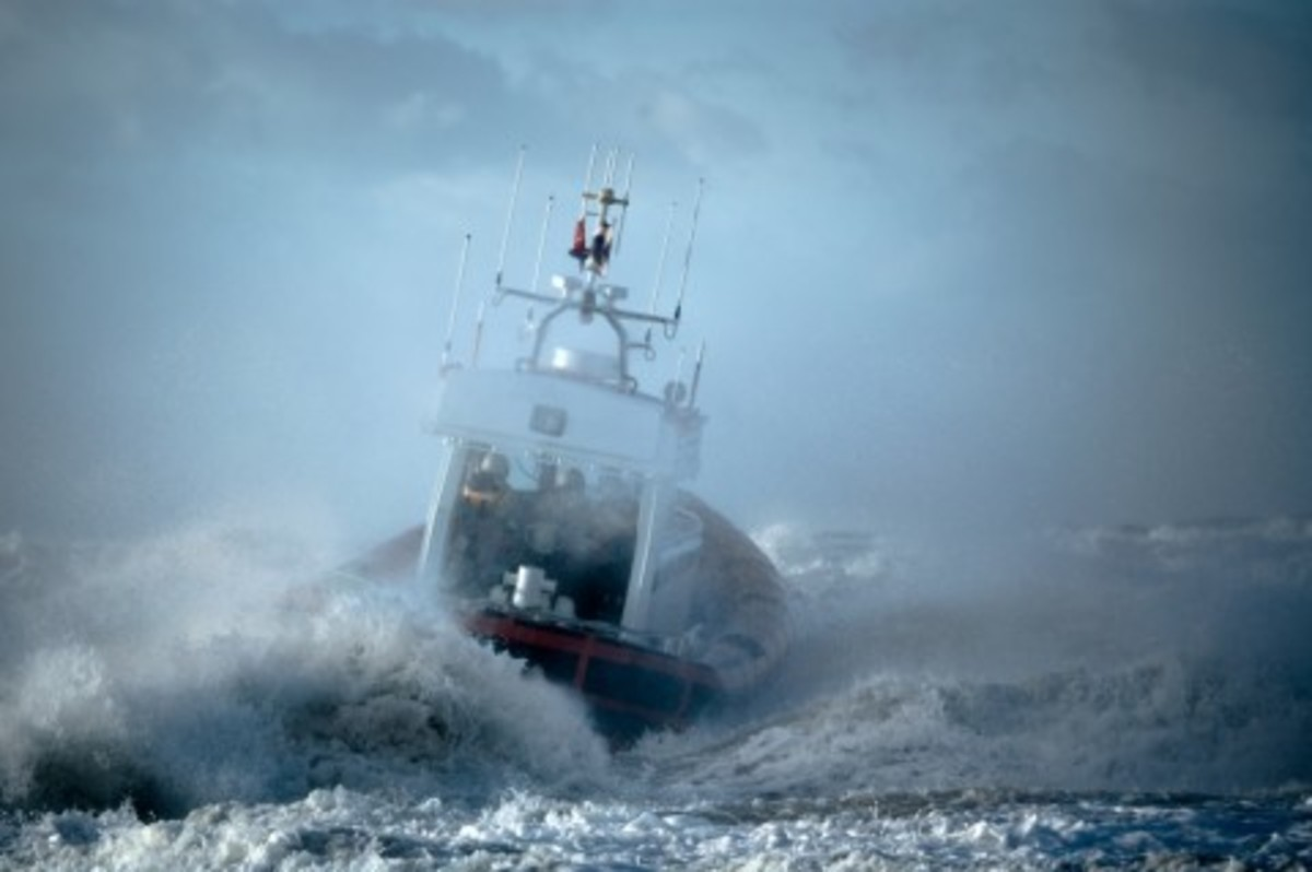 The sea may be rough but a boat is not meant for anchor in a harbor all the while!
