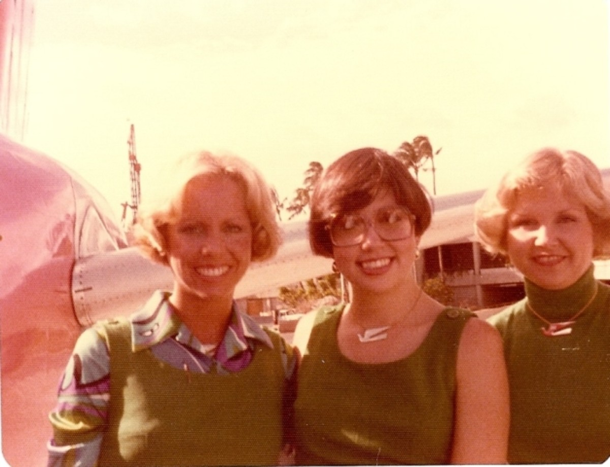 Months later, we were three rookies working a charter flight out of Hawaii.