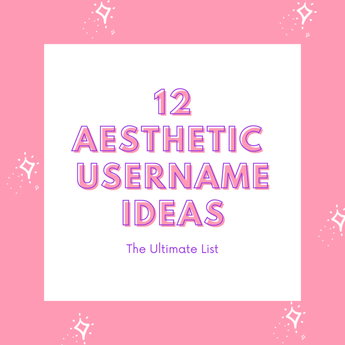 In this guide, we're going to be taking a look at 12 aesthetic usernames ideas!