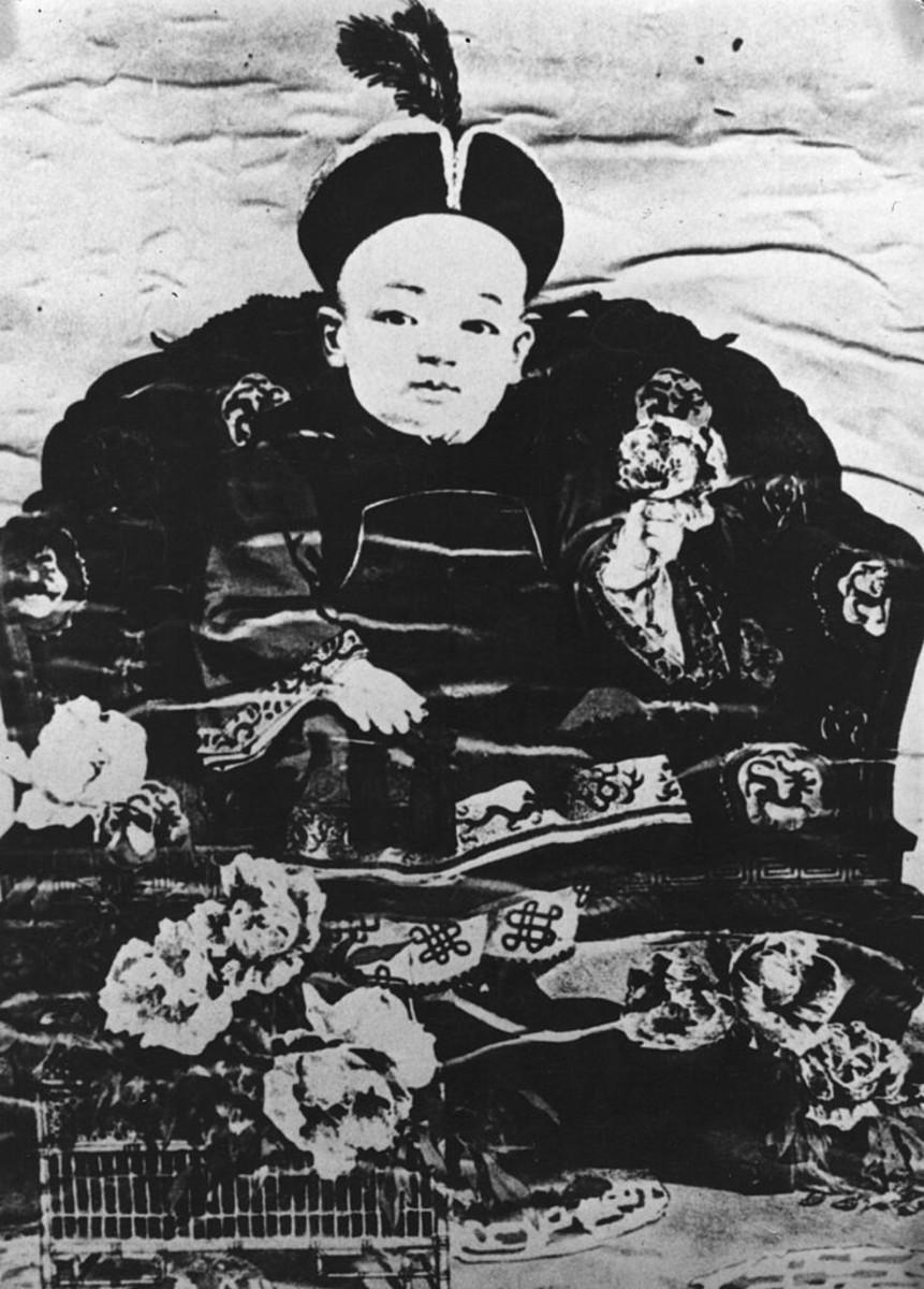 Painting portrait of Puyi, 1908