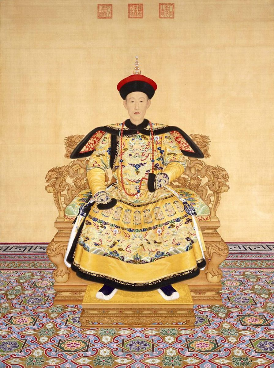 The Qianlong Emperor in court dress by Giuseppe Castiglione