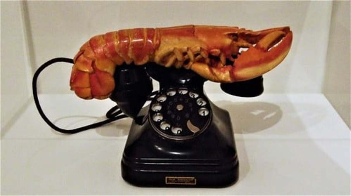 """Surrealism was an art form that grew in Europe following World War I. One of its leading exponents was Salvador Dalí  who placed a lobster on a telephone. This according to the Tate Modern museum, """"had strong sexual connotations for Dalí."""""""