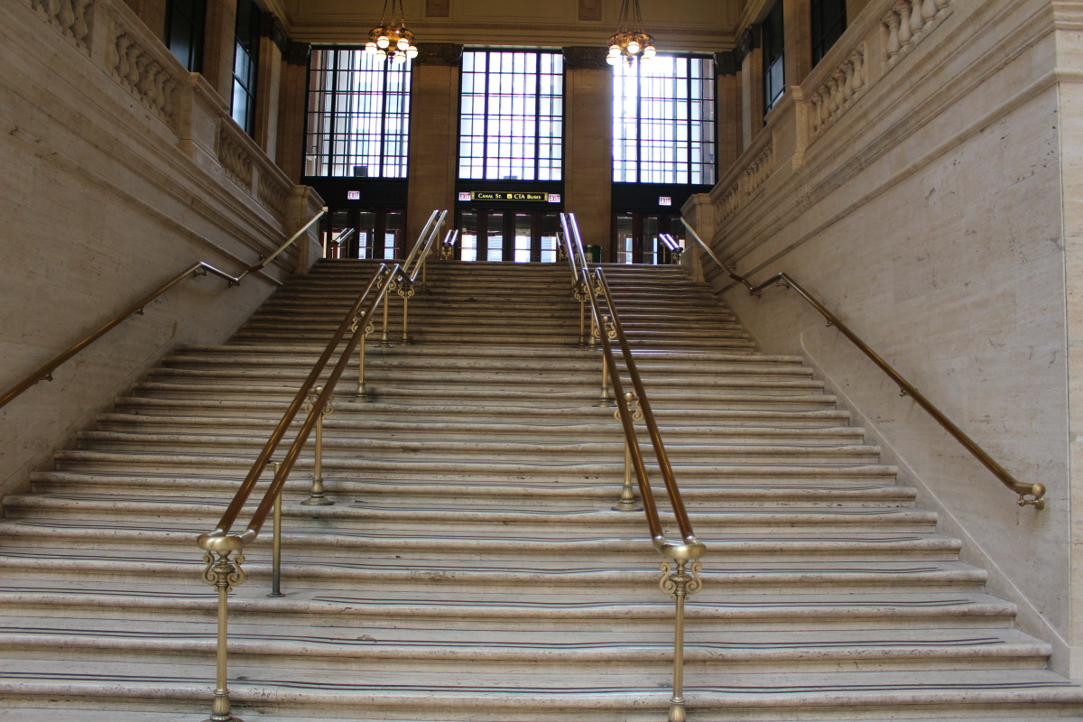 Dude these are the stairs! The second to last shootout in The Untouchables.