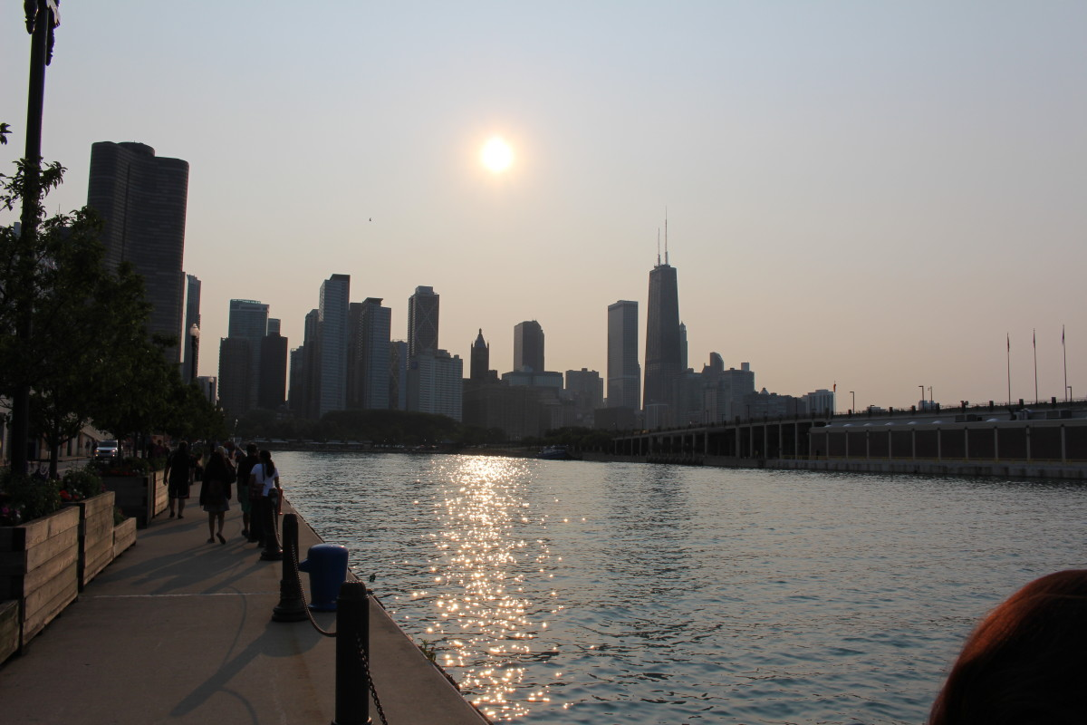 The quieter side of Navy Pier.