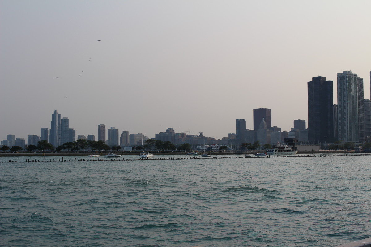 The city skyline from Navy Pier.