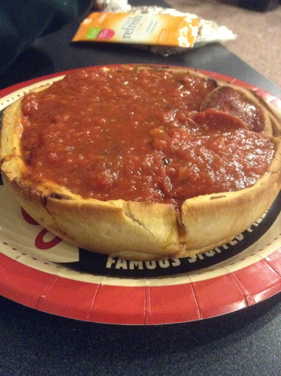 My first Chicago deep dish pizza.