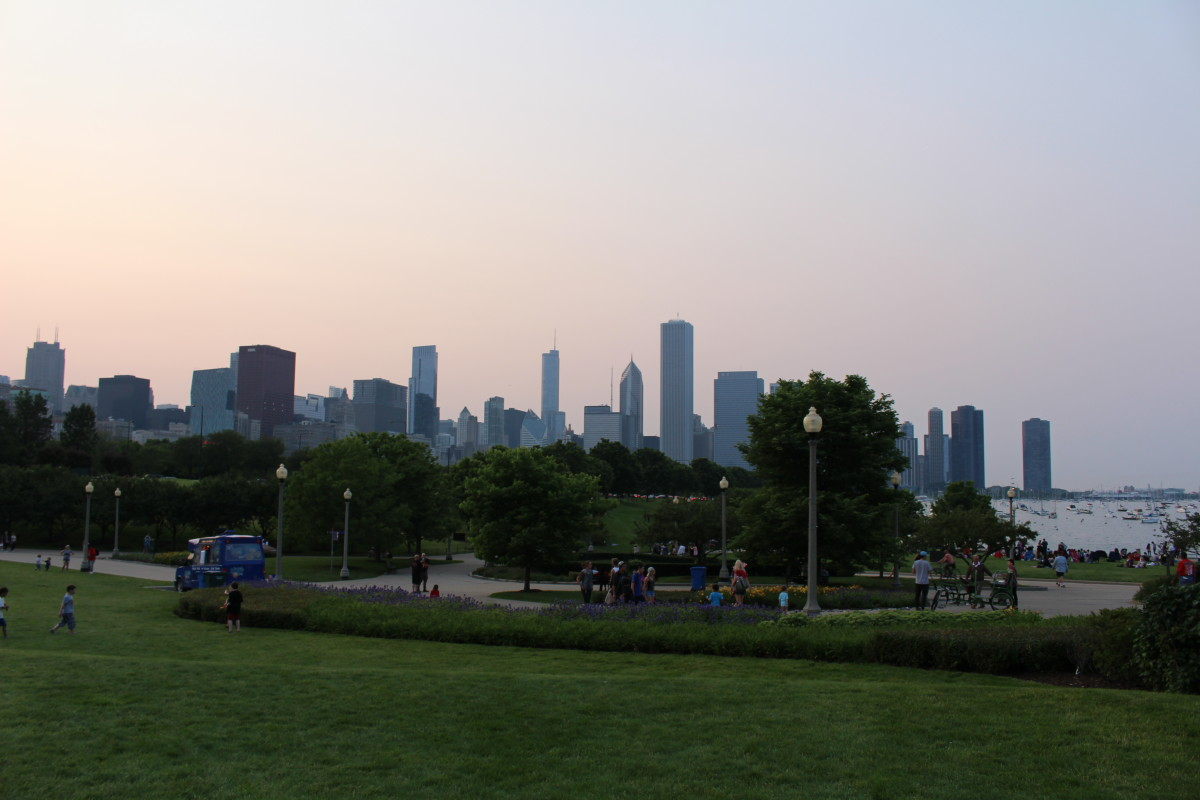 The spot at Grant Park where we watched the fireworks.