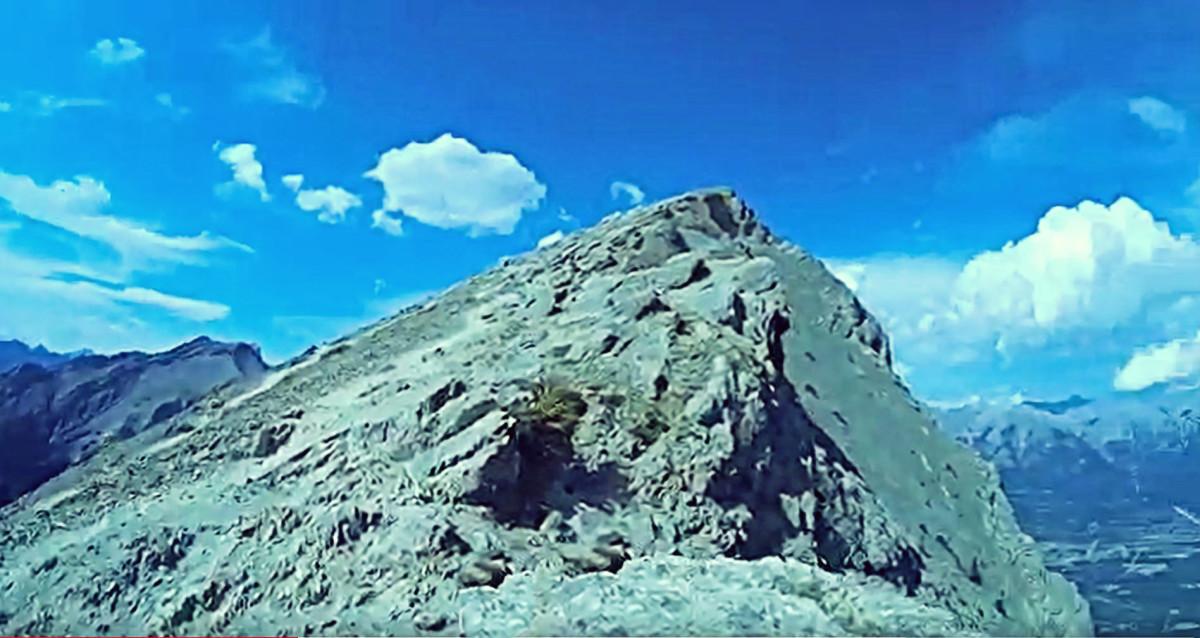 Ha Ling's Peak viewed as you approach it