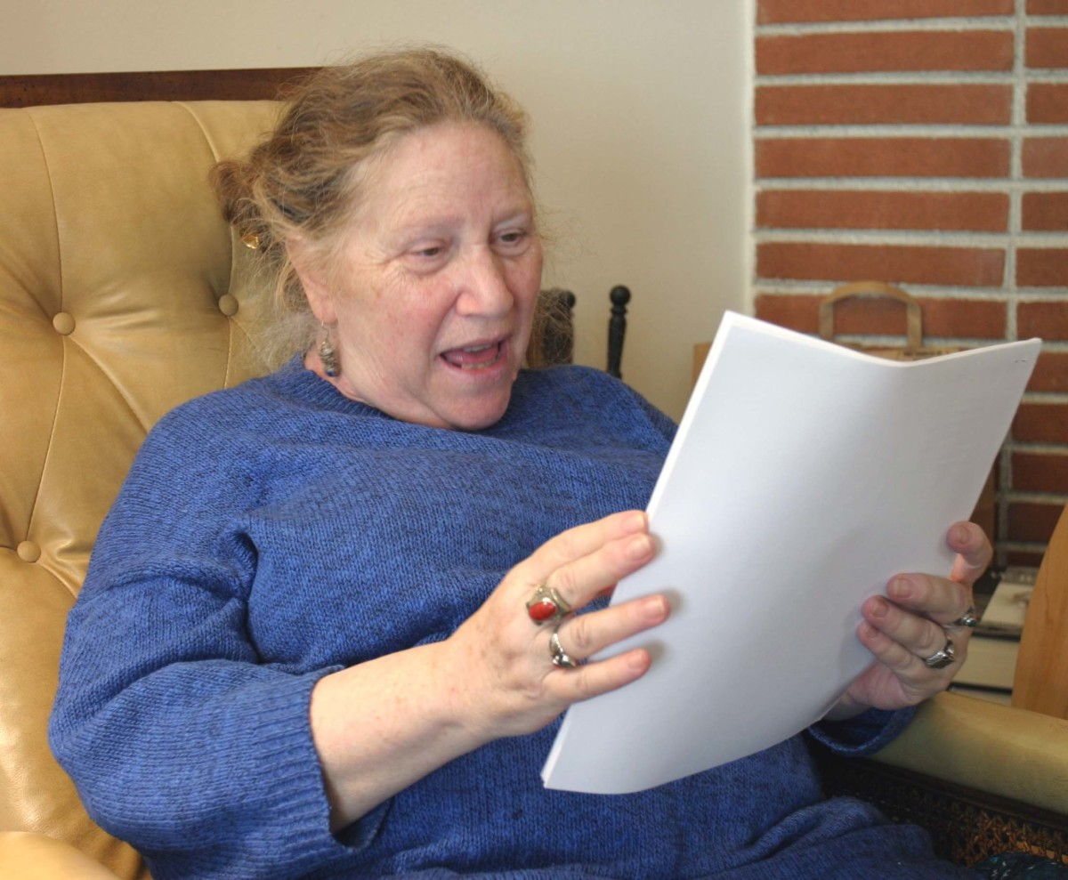 Diane de Prima, photographed by Gloria Graham during the taping of Add-Verse, 2004