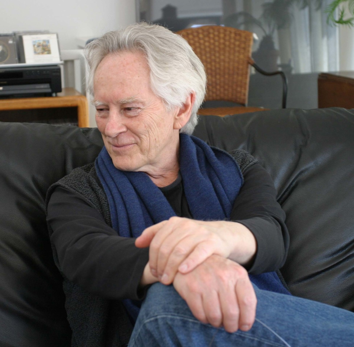 Michael McClure, photograph by Gloria Graham during the taping of Add-Verse