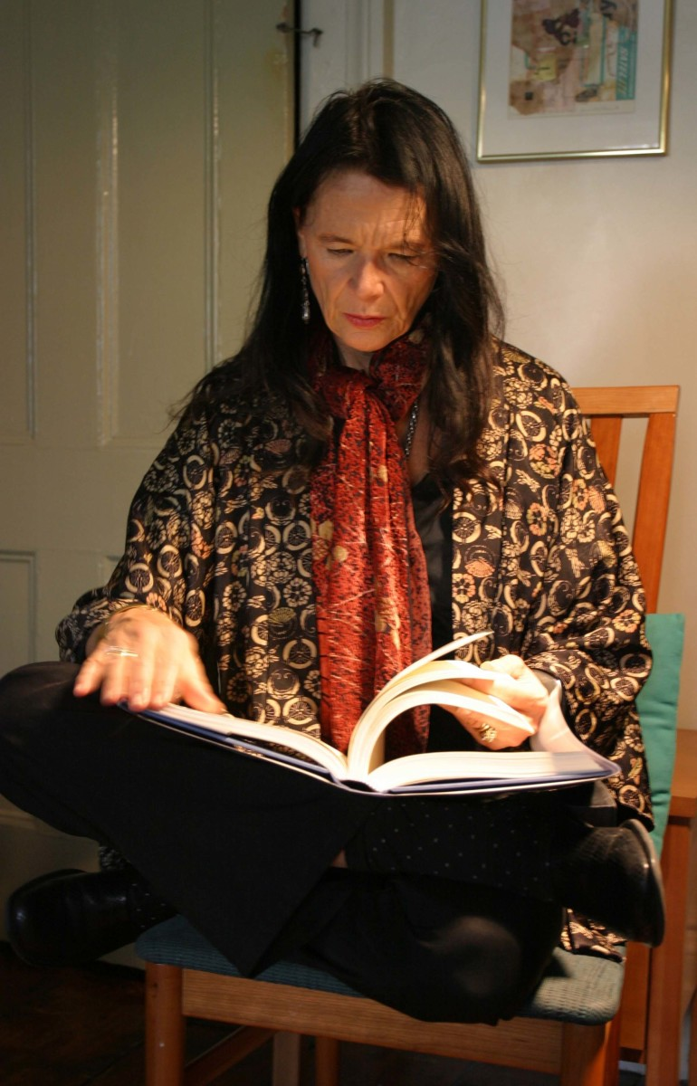 Anne Waldman, photo by Gloria Graham taken during the video taping of Add-Verse, 2003