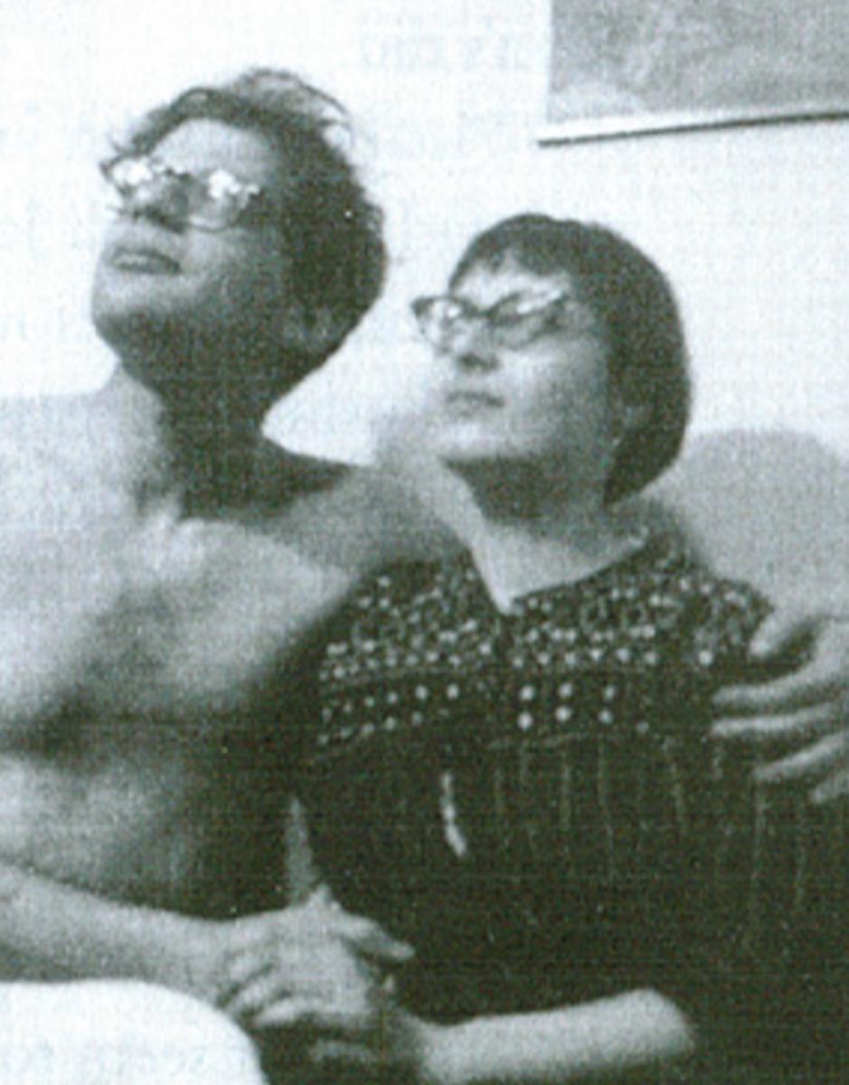 Elise Cowen with Allen Ginsberg
