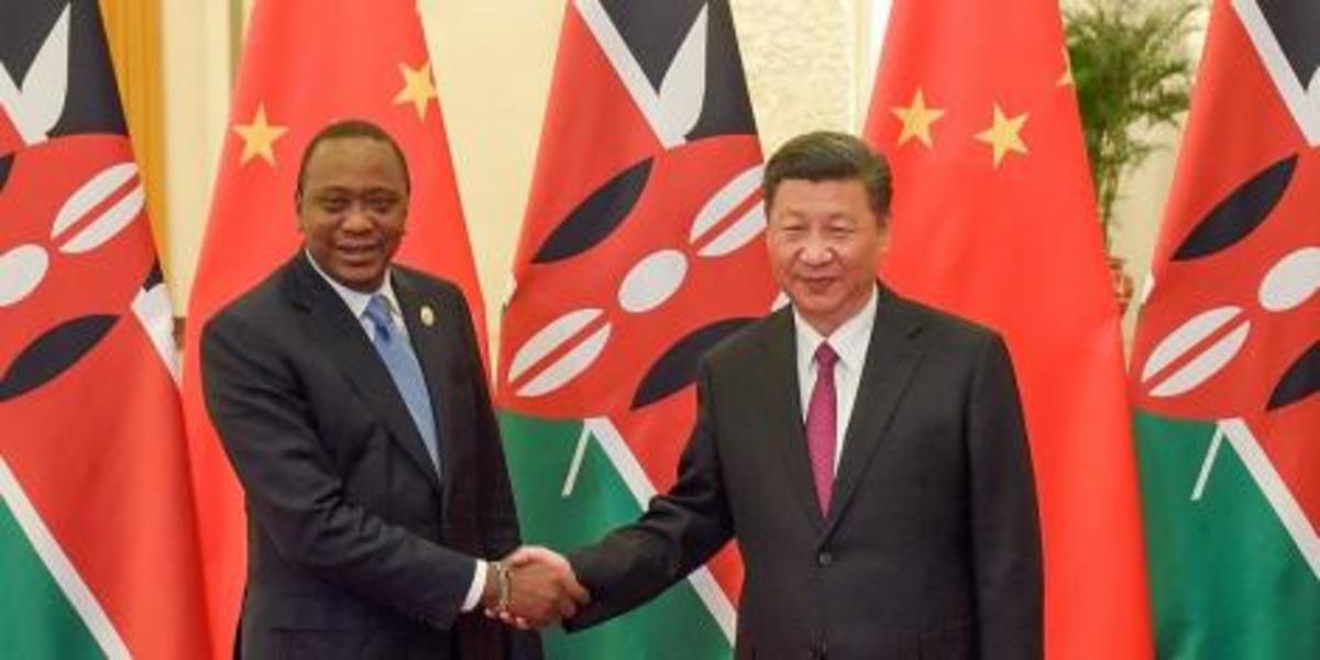 President Uhuru Kenyatta with China's president  Xi Jinping