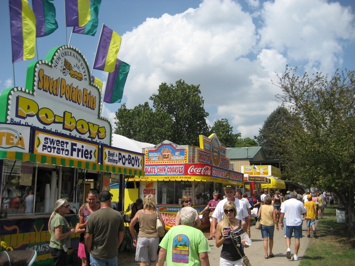 One of the biggest draws is the huge selection of fair food.