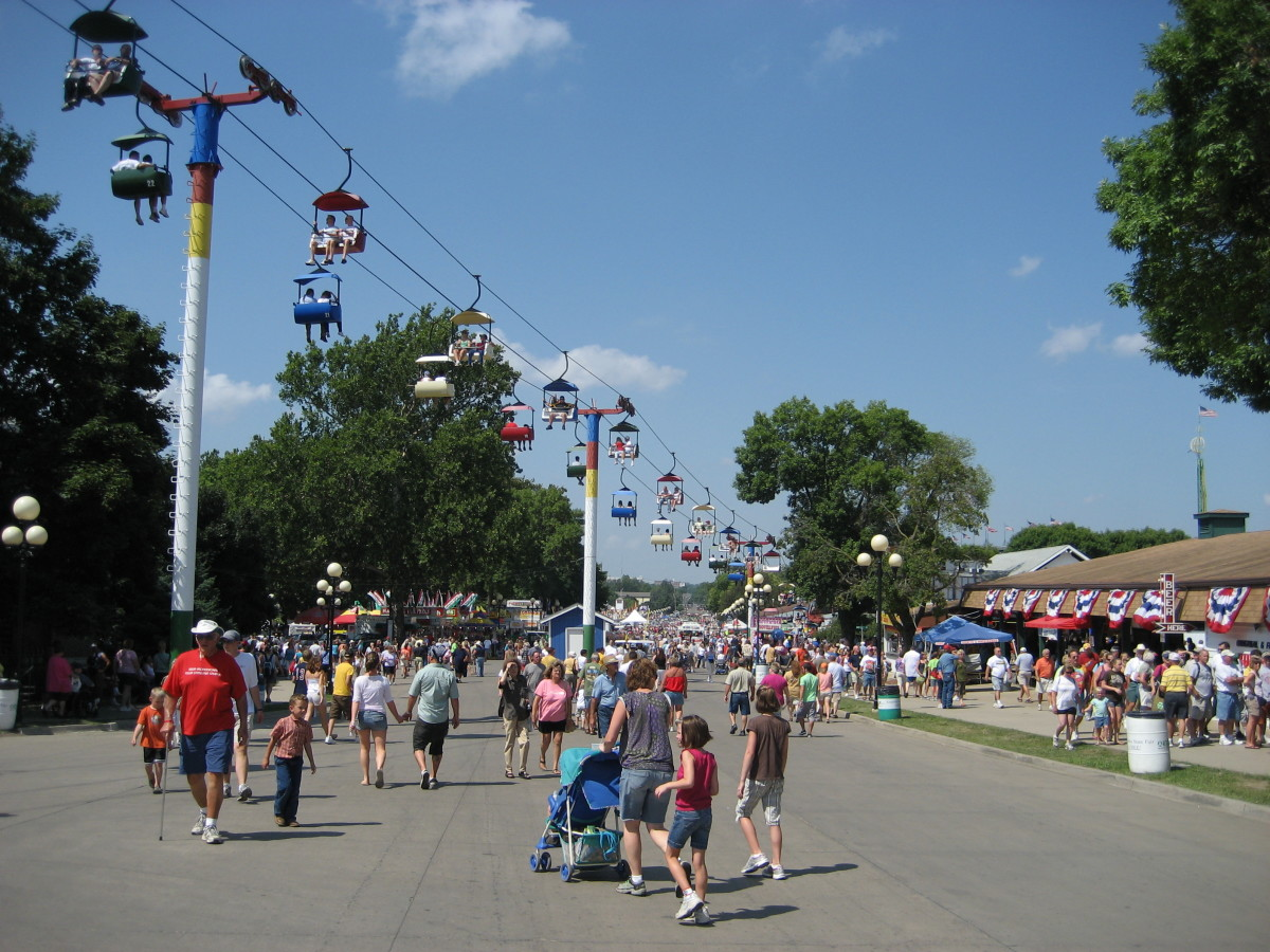 The Sky Glider has been a fixture at the Iowa State Fairgrounds since 1975.