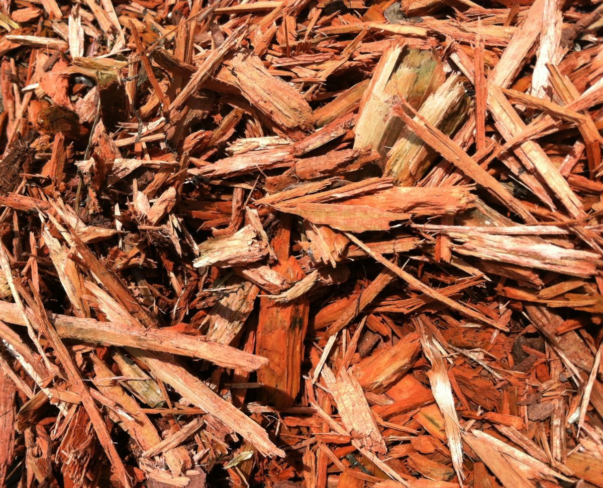 Cypress bark mulch is loved by some for its color.