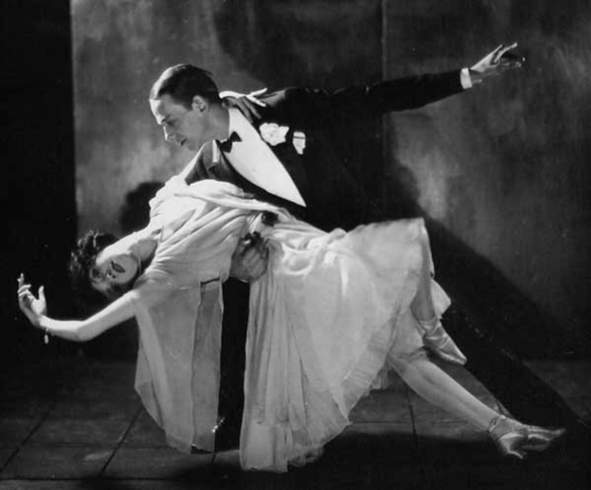 Fred and Adele - the classic ballroom dancing suit always looks elegant