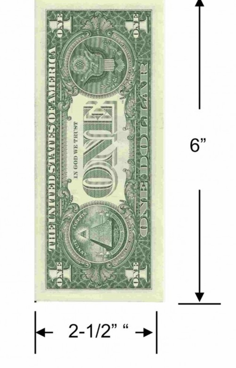 The everyday dollar is a folding maze of exact measurements.