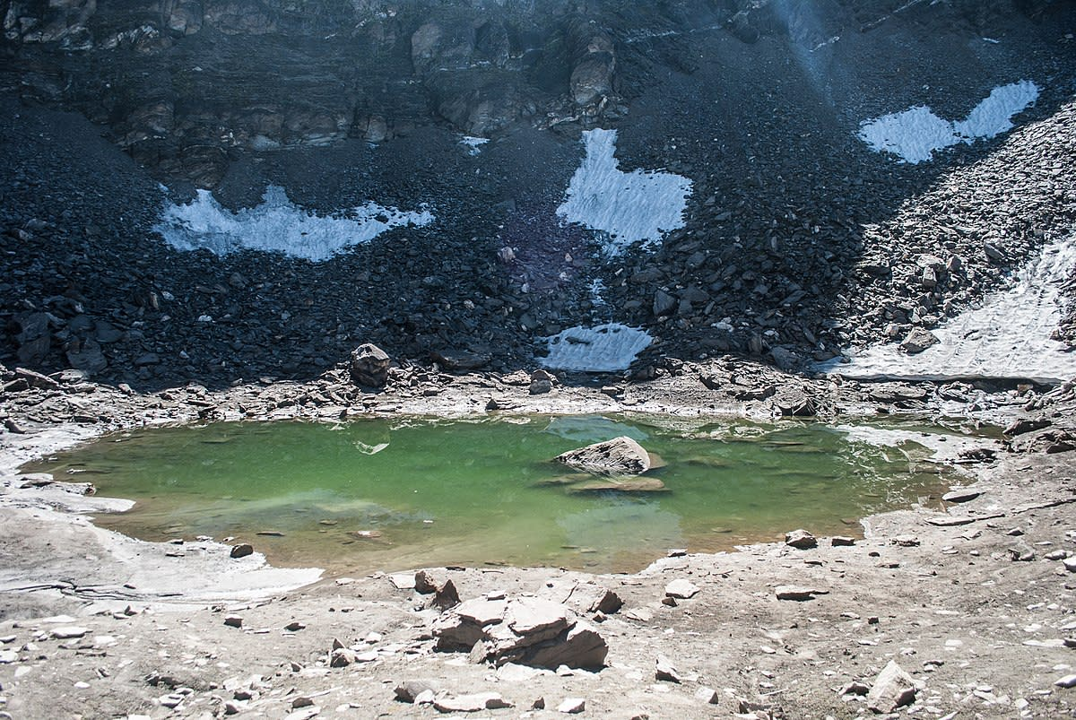 Roopkund Lake is a glacial lake, situated in the Himalayas, at an altitude of approximately 16,500 feet.