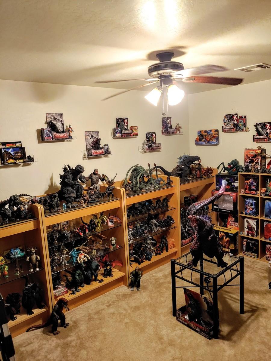 My Godzilla figure collection