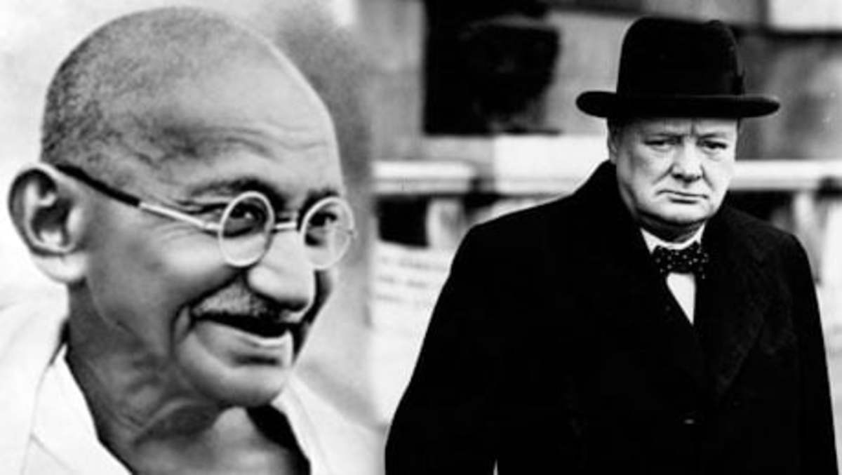 Churchill (right) loathed Gandhi (left).