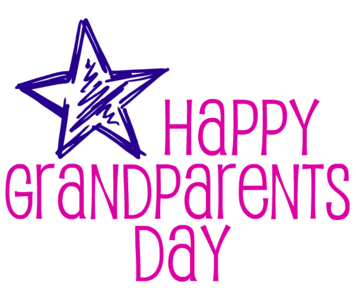 Happy Grandparents Day card and clipart with star
