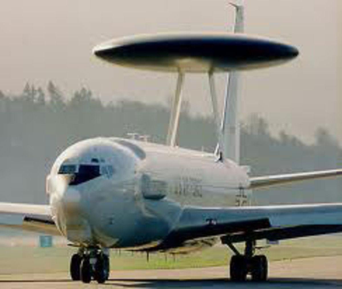 Converted 707's are used to create the AWACS.