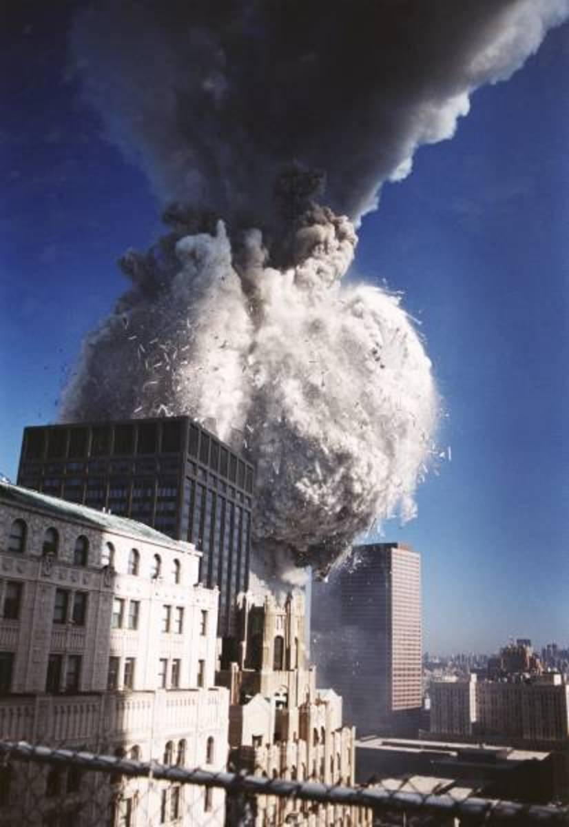 Look at the disintegration in that building AS it comes down.