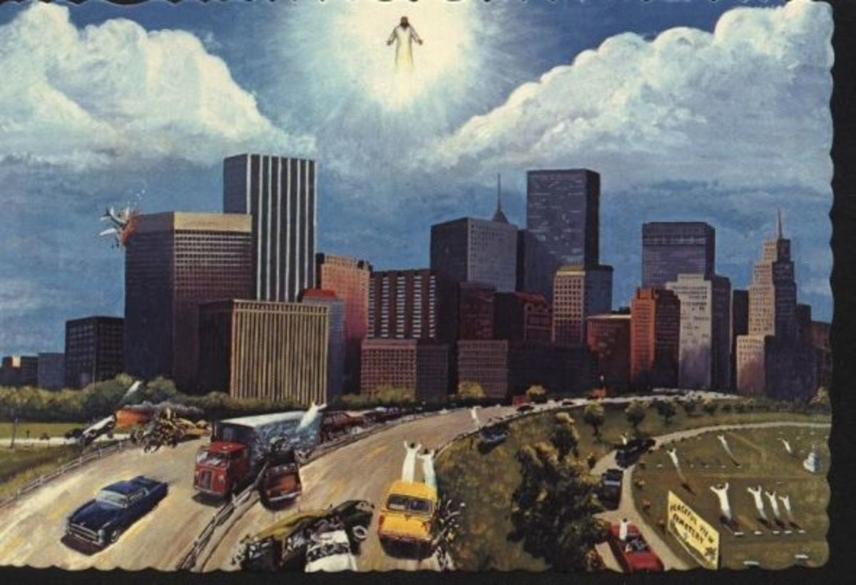 An artist's conception of what the rapture of the church will be like