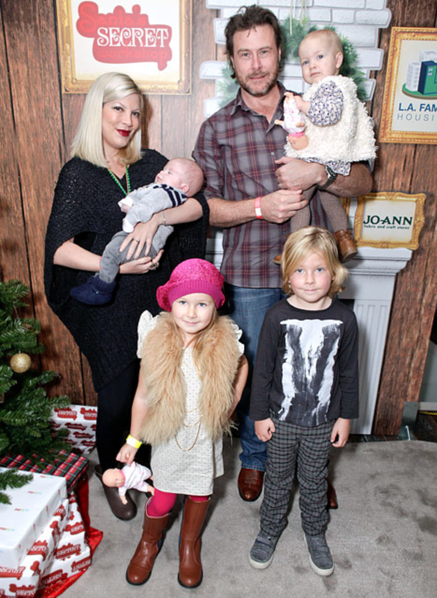 Tori Spelling and her family.