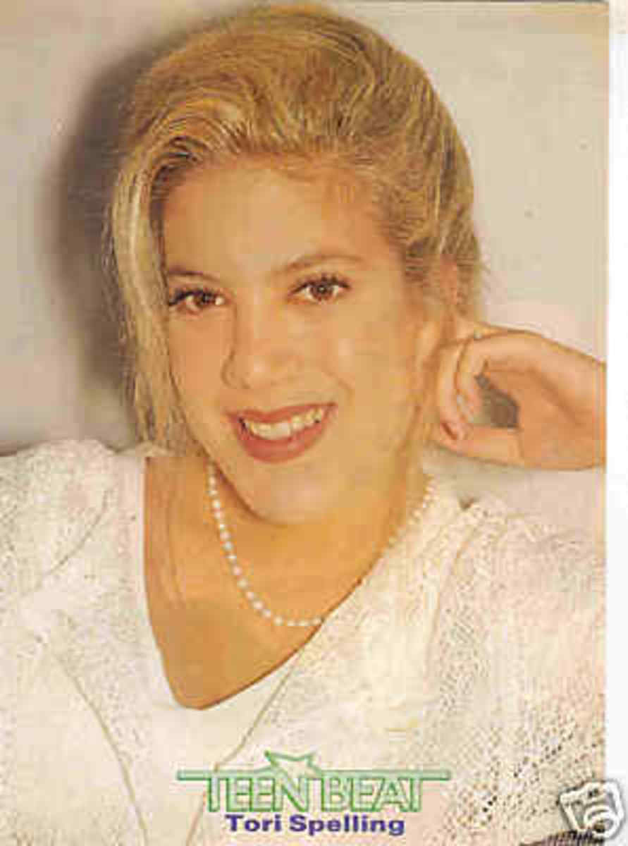 Tori Spelling from Teen Beat magazine.