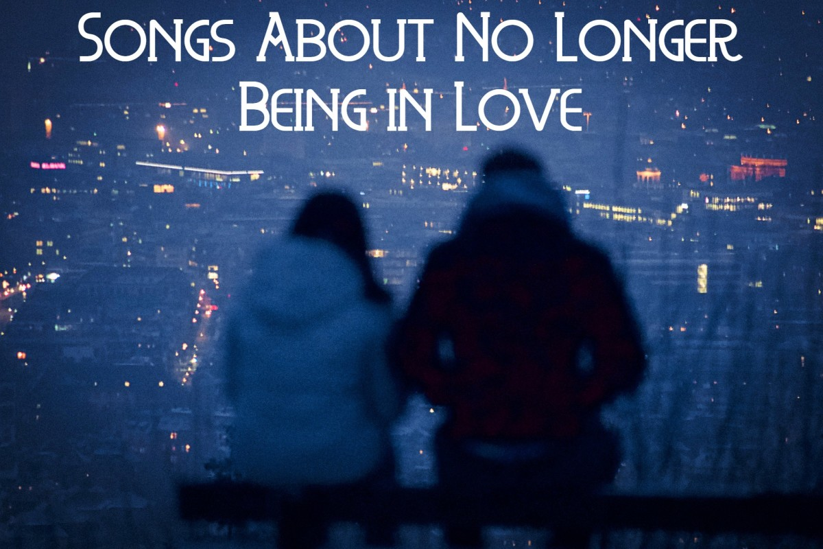 Sometimes romantic love fades, fizzles out, and dies completely. If you can identify, then make a playlist of pop, rock, country, and R&B songs about falling out of love.