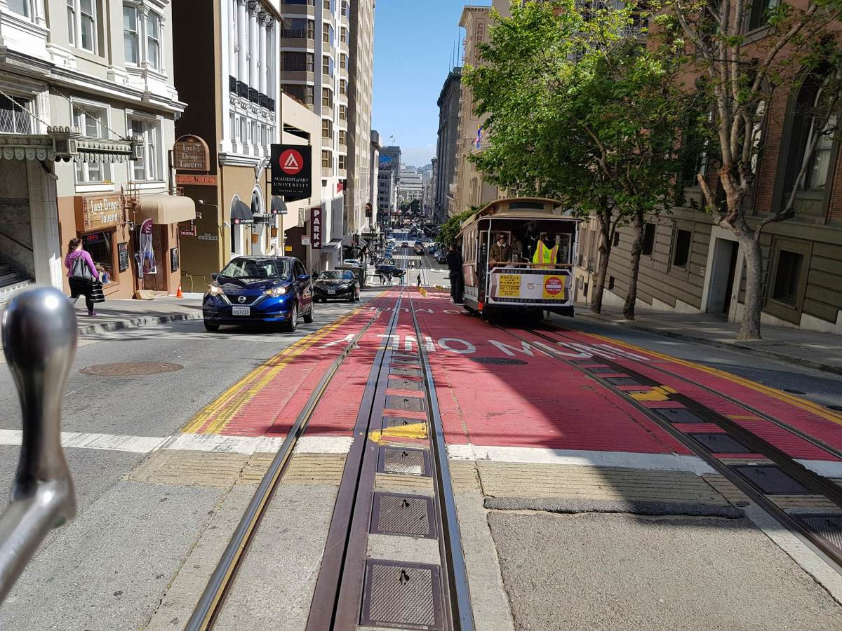 Even when streets are clean, they can still pose hazards to cyclists. Trolly tracks embedded in roads can snag a tire and send a rider flying in a split second.