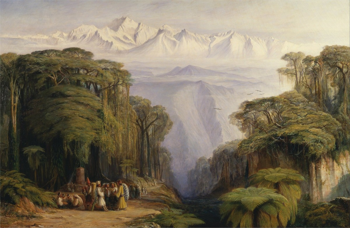 Painting by Edward Lear (1812-1888)