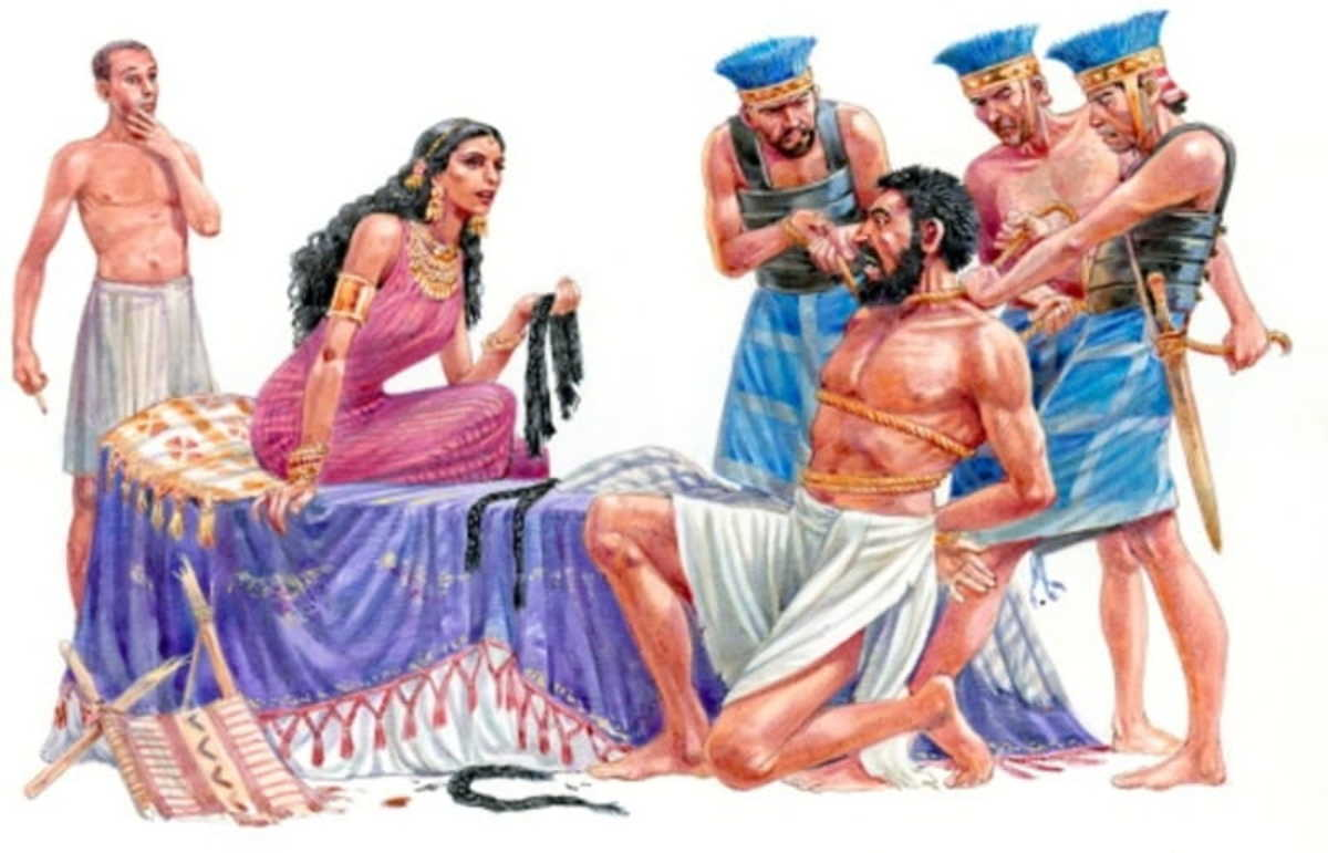 Delilah betrays Samson