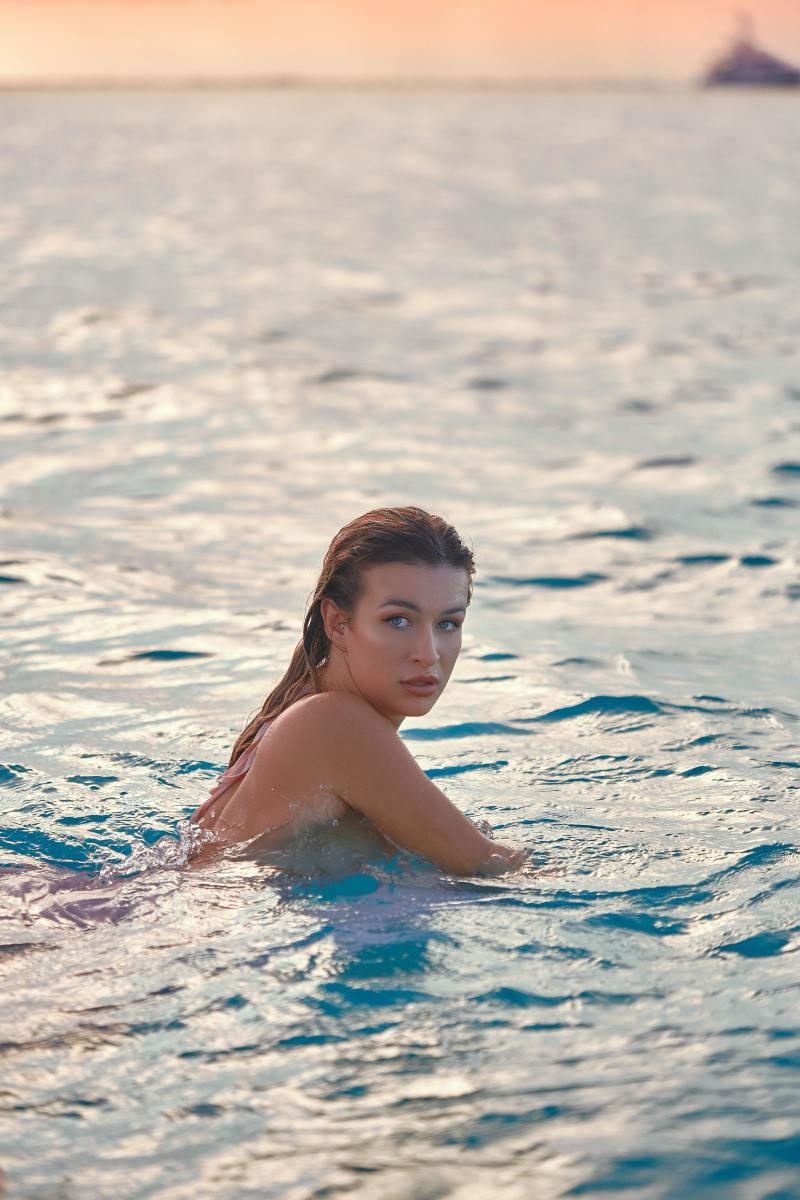 Girl Skinny-Dipping