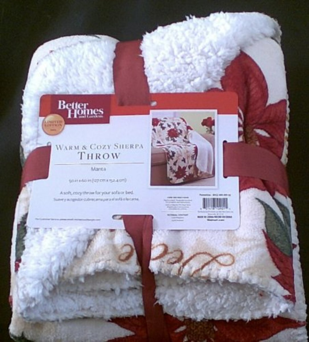 Winter Holiday Sherpa Throws