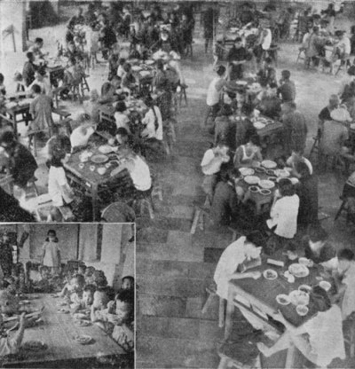 In the beginning, commune members were able to eat for free at the commune canteens. This changed when food production slowed to a halt.