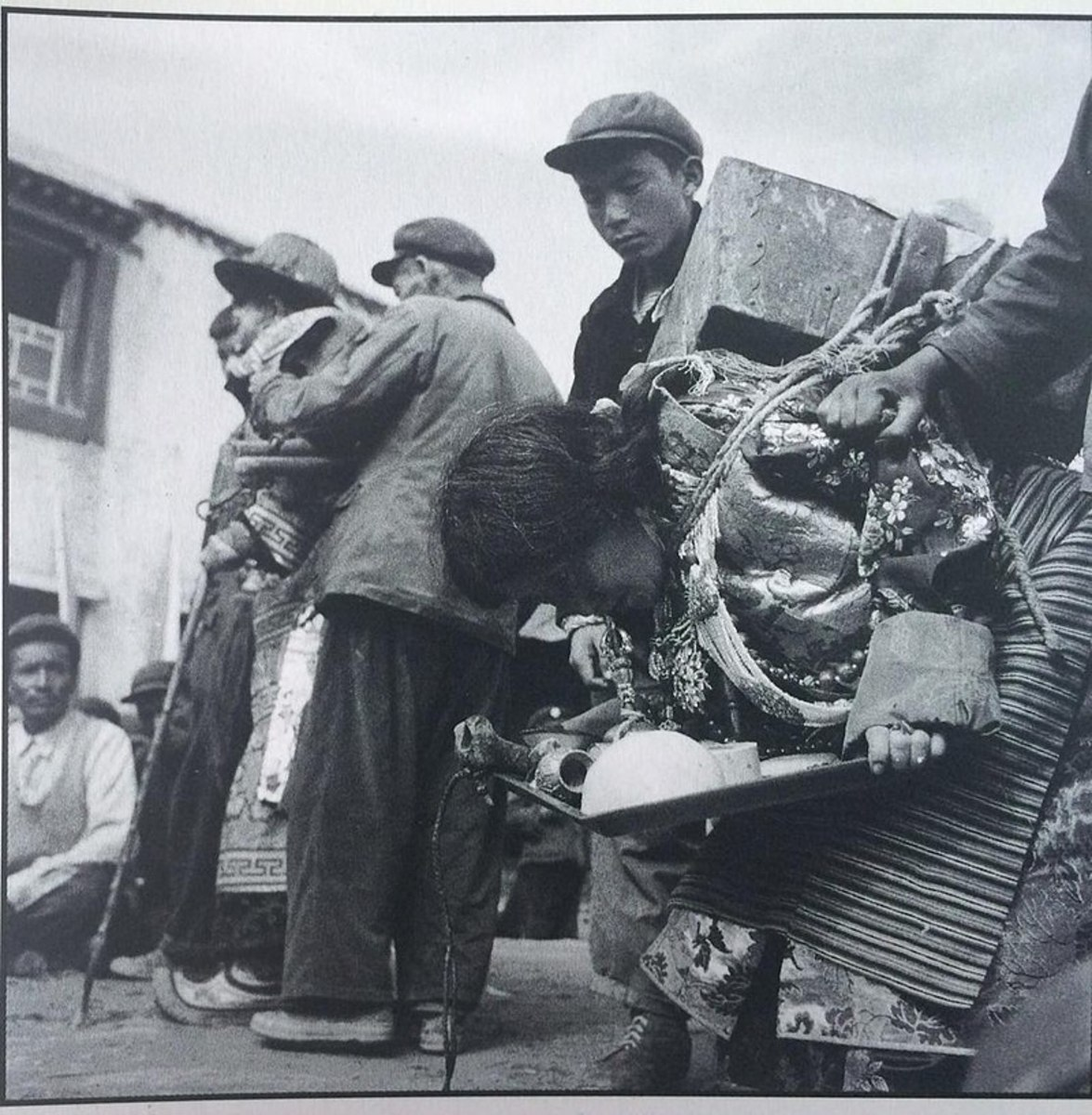 Struggle session of Sampho Tsewang Rigzin and his wife during the Cultural Revolution.