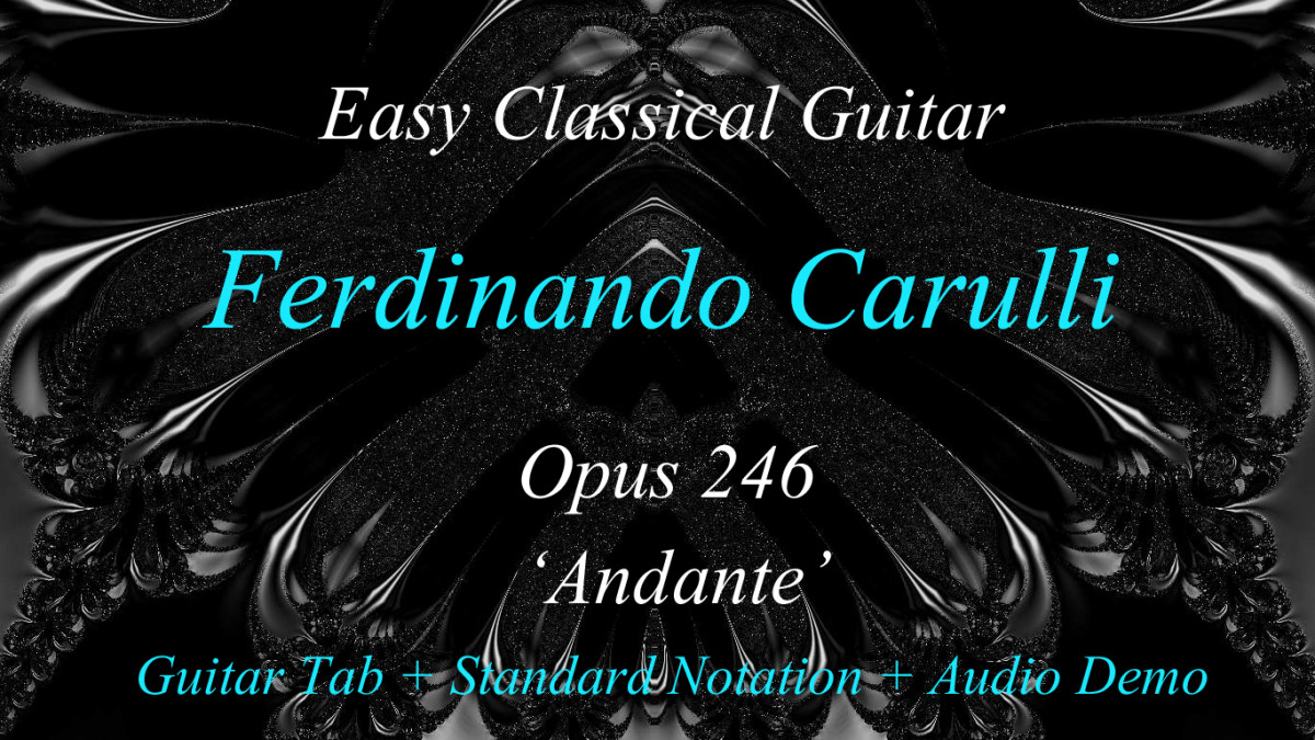 "F. Carulli's Classical Guitar opus 246 ""Andante"" in Standard Notation and Guitar Tablature"