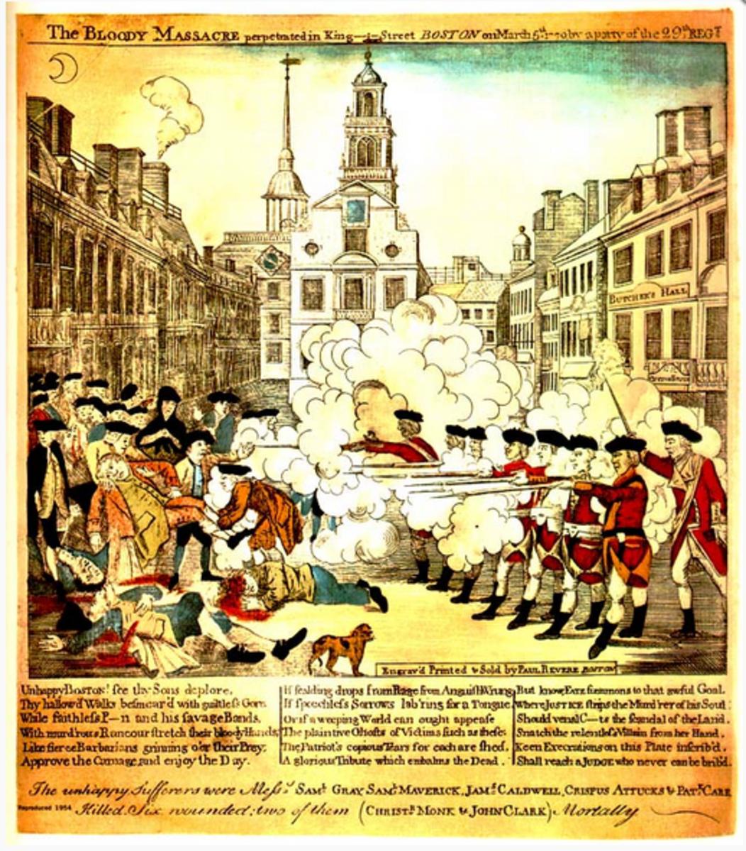 Paul Revere's Etching of the Boston Massacre