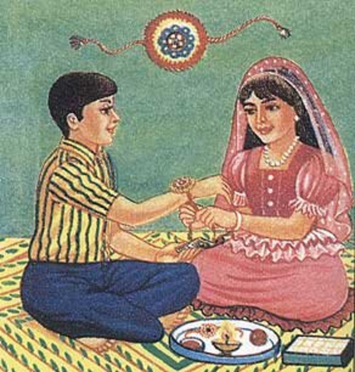 Brother and Sister Celebrating Rakhi