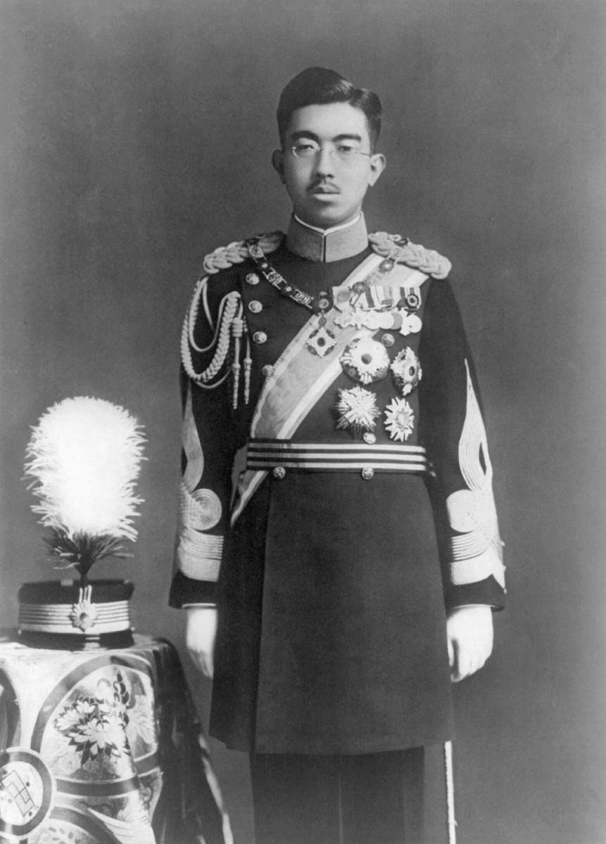 Emperor Showa or Hirohito in dress uniform.